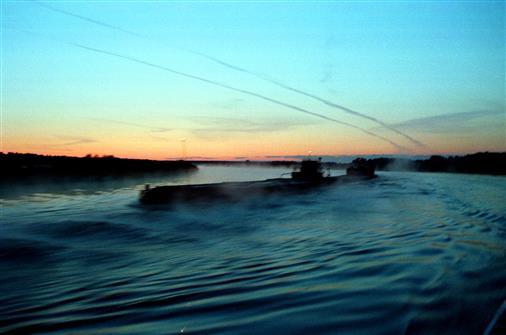 Öltanker auf der Suchona