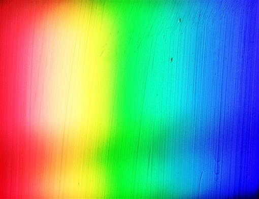 Prismatisch optisch zerlegter Sonnenstrahl