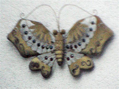 Schmetterling als Hauswandschmuck