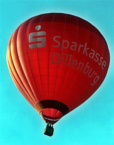 Heißluftballon Sparkasse