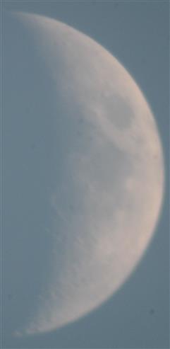 Mondsichel im August 2018