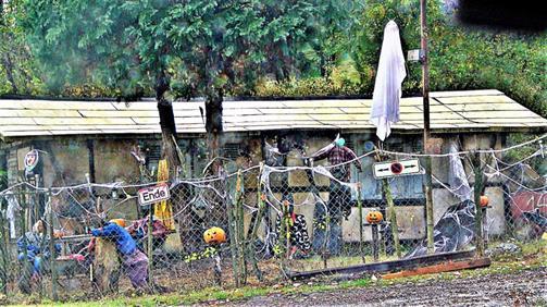 Gartendekoration für Halloween