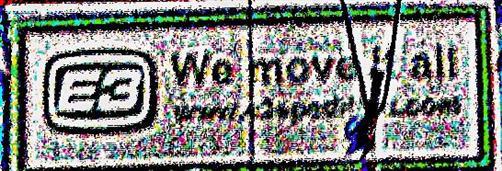 Werbungsschild auf der Rückwand eines Lastwagens