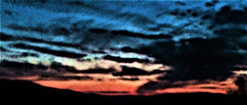 Abendhimmel nach Sonnenuntergang