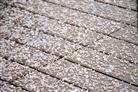 Graupel auf der Terrasse  1. März 2017