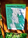Hinweisschild einer Jagdhütte