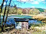 Beobachtungs- bzw. Naturschutzhütten am Lohmühlenweiher