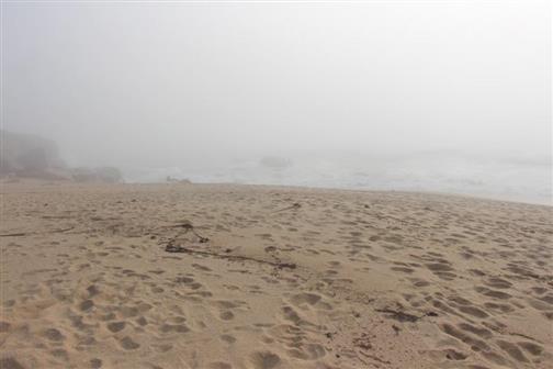 Strand mit Gischt 2