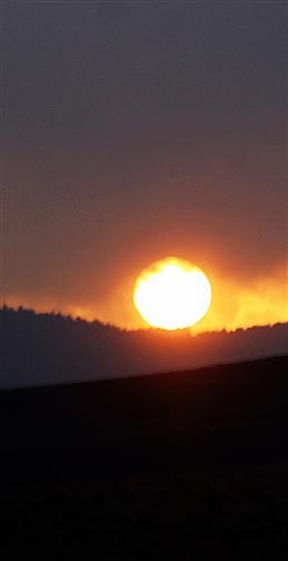 Sonne am Abend im Dietzhölztal November 2017