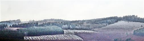 Erster Schnee, der im November auf den Gipfeln liegen geblieben ist...