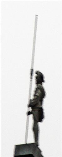 Ein wachsamer Soldat