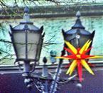 Adventsstern in der Fußgängerzone Herborn