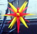 Adventsstern in der Fußgängerzone Herborn 01