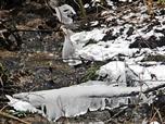 Eisglocken bzw. -vorhang an einem Nebenbächlein zur Dietzhölze