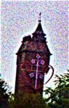 Kaiser-Wilhelm-Turm im Ostteil der Stadt Marburg