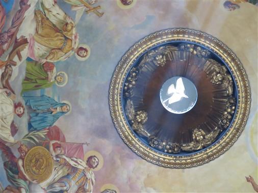 Taube als Symbol des Heiligen Geistes - und des Friedens