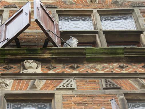 Fassade mit Eule