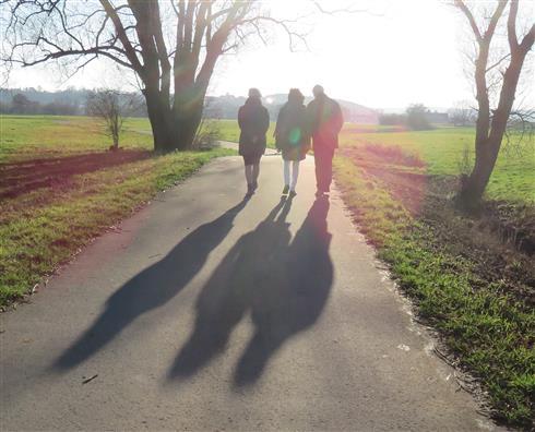 Wintersonne - lange Schatten
