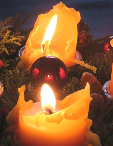 Bienenwachs-Weihnachtsgruß und Silvestergruß an das Team von natur und die FotografInnen