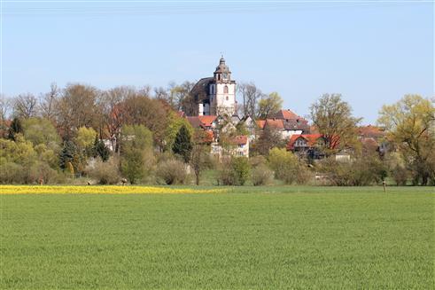 Frühlingsansicht einer mittelhessischen Kleinstadt